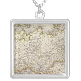 Russia and Asia 2 Silver Plated Necklace
