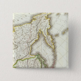 Russia and Asia Engraved Map 15 Cm Square Badge