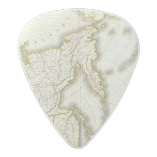 Russia and Asia Engraved Map Acetal Guitar Pick