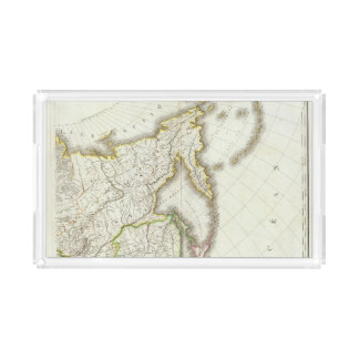 Russia and Asia Engraved Map Acrylic Tray