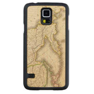 Russia and Asia Engraved Map Carved Maple Galaxy S5 Case
