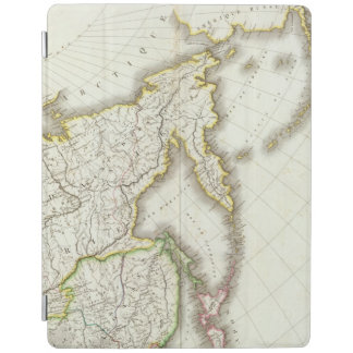 Russia and Asia Engraved Map iPad Cover