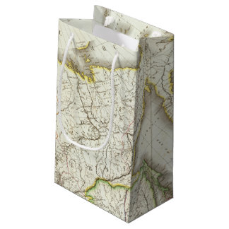 Russia and Asia Engraved Map Small Gift Bag