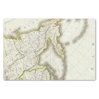 Russia and Asia Engraved Map Tissue Paper