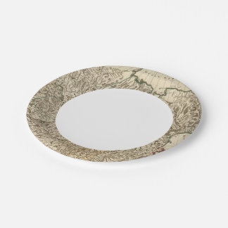 Russia and Asia Paper Plate