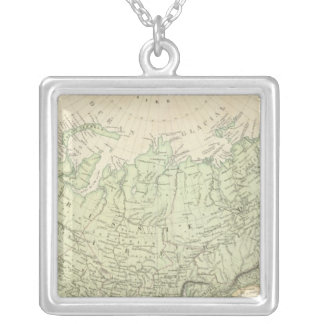 Russia and Asia Silver Plated Necklace
