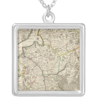 Russia and Europe 4 Silver Plated Necklace