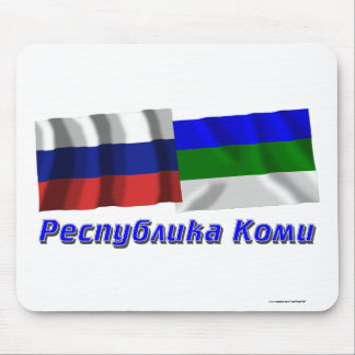 Russia and Komi Republic Mouse Pad