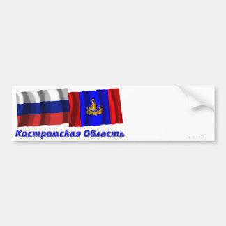 Russia and Kostroma Oblast Bumper Stickers