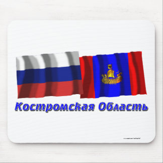 Russia and Kostroma Oblast Mouse Pad