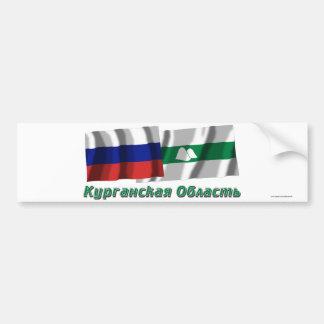 Russia and Kurgan Oblast Bumper Sticker