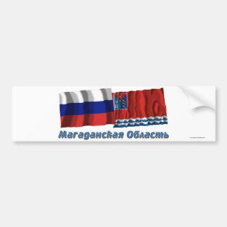 Russia and Magadan Oblast Bumper Sticker