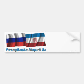 Russia and Mari El Republic Bumper Stickers