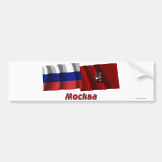 Russia and Moscow Federal City Bumper Sticker
