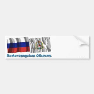 Russia and Nizhniy Novgorod Oblast Bumper Stickers