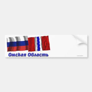 Russia and Omsk Oblast Bumper Sticker