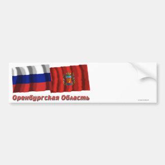 Russia and Orenburg Oblast Bumper Sticker