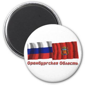 Russia and Orenburg Oblast Magnet