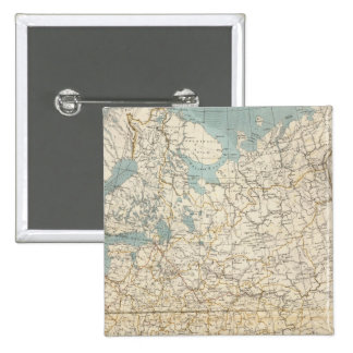 Russia and Poland Atlas Map 15 Cm Square Badge