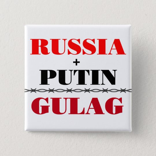 Russia and Putin 15 Cm Square Badge