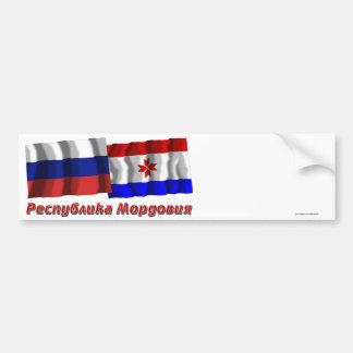 Russia and Republic of Mordovia Bumper Stickers