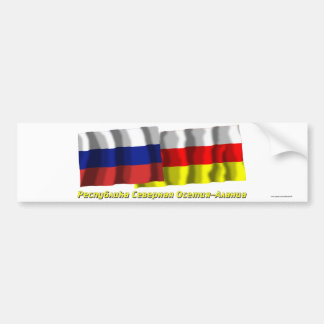 Russia and Republic of North Ossetia-Alania Car Bumper Sticker