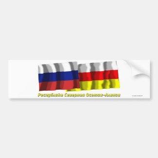 Russia and Republic of North Ossetia-Alania Bumper Sticker