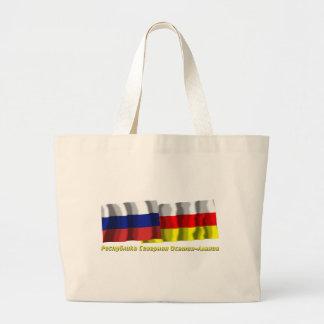 Russia and Republic of North Ossetia-Alania Jumbo Tote Bag