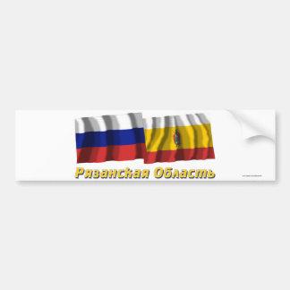 Russia and Ryazan Oblast Bumper Stickers