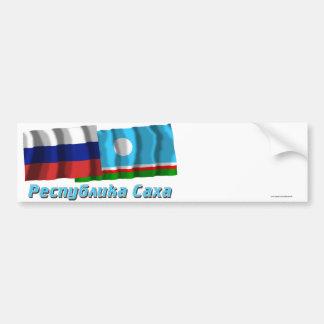 Russia and Sakha Republic Bumper Stickers