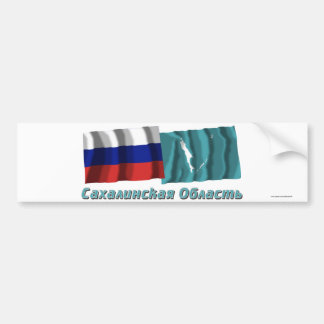 Russia and Sakhalin Oblast Bumper Sticker