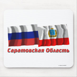 Russia and Saratov Oblast Mouse Pad