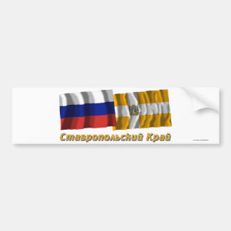 Russia and Stavropol Krai Bumper Sticker