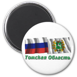 Russia and Tomsk Oblast Magnet