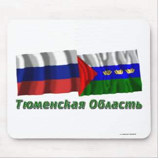 Russia and Tyumen Oblast Mouse Pad
