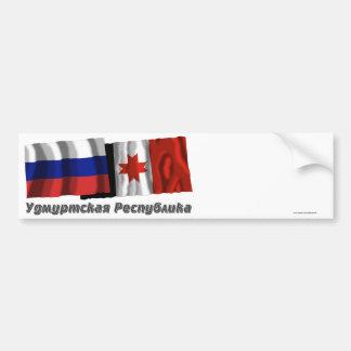 Russia and Udmurt Republic Bumper Sticker