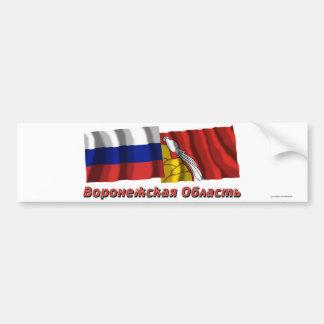 Russia and Voronezh Oblast Bumper Sticker