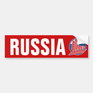 Russia Blades Car Bumper Sticker