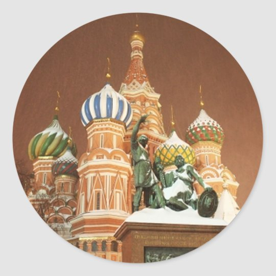 Russia Cathedral Classic Round Sticker