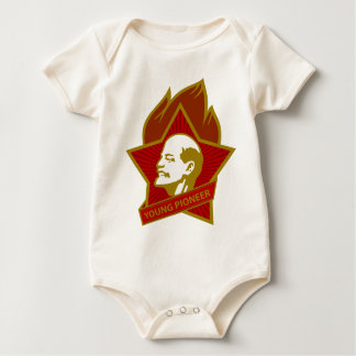 Russia CCCP USSR Young Pioneer Baby Bodysuit