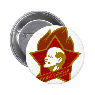 Russia CCCP USSR Young Pioneer 6 Cm Round Badge