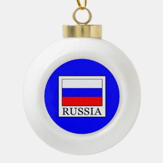 Russia Ceramic Ball Christmas Ornament