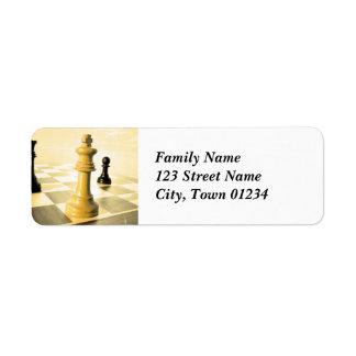 Russia Chess Return Address Label