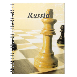 Russia Chess Spiral Notebooks