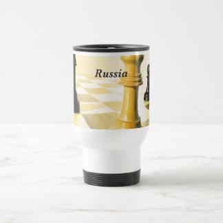 Russia Chess Travel Mug