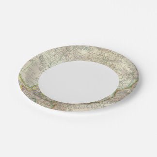 Russia, China, Asia 2 7 Inch Paper Plate