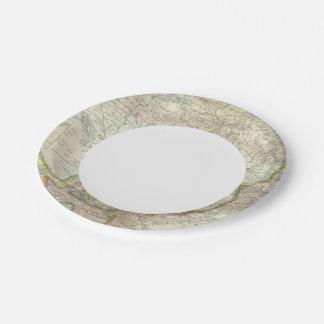 Russia, China, Asia 2 Paper Plate