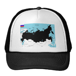 russia country political map flag trucker hat