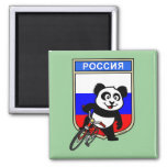 Russia Cycling Panda Refrigerator Magnet