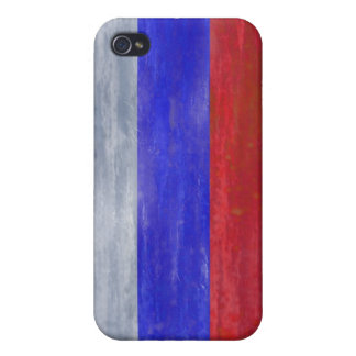 Russia distressed Russian flag Cover For iPhone 4